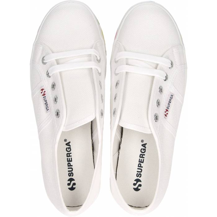 SUPERGA A04 WHITE-MULTIC.2790-COTW SCARPA DONNA SNEAKERS S111TRW